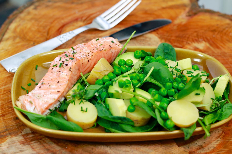 Kartoffelsalat med fisk