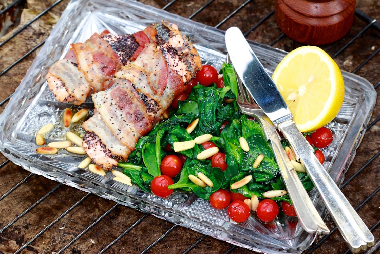 Sprødstegt laks med blå birkes og serrano skinke / Laktosefri
