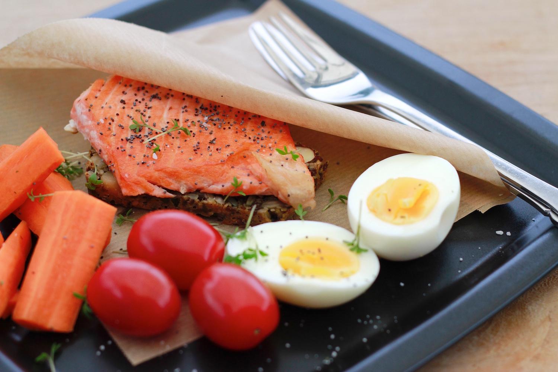 Laksemad med æg